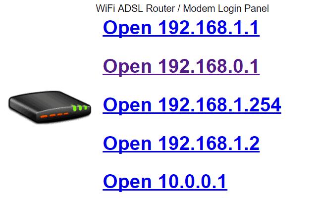 10.0.0.1 Login Admin